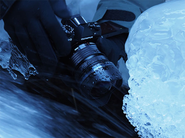 Camera in icy area
